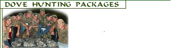Dove Hunting Packages